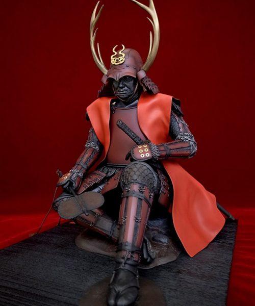 Historical Samurai Statues